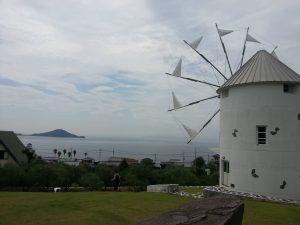 オリーブ公園の風車。島といったらこれ